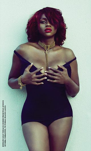 Woman On Fire Waje Looks Stunning In Swimsuit As She Poses For Made Magazine