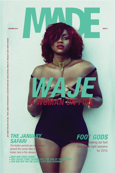 Waje Looks Stunning In Swimsuit As She Poses For Made Magazine