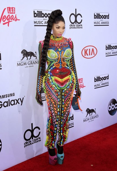 Dencia Rocks Candy Crush Inspired Catsuit To Billboard Awards