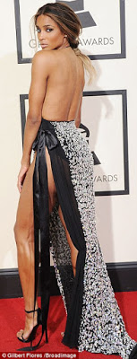 Ciara attends the 58th Annual Grammy Awards with no bra and underwear