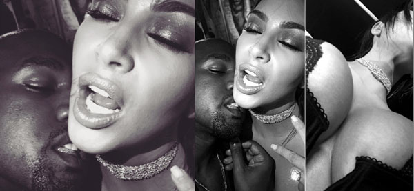 Kim Kardashian shares Raunchy Photos of Kanye West Licking her