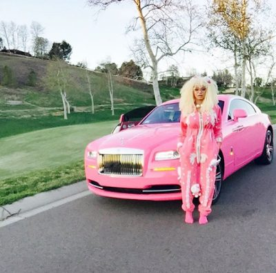France Midfielder Paul Pogba Cruises around West Hollywood in Dencia's Pink Rolls Royce