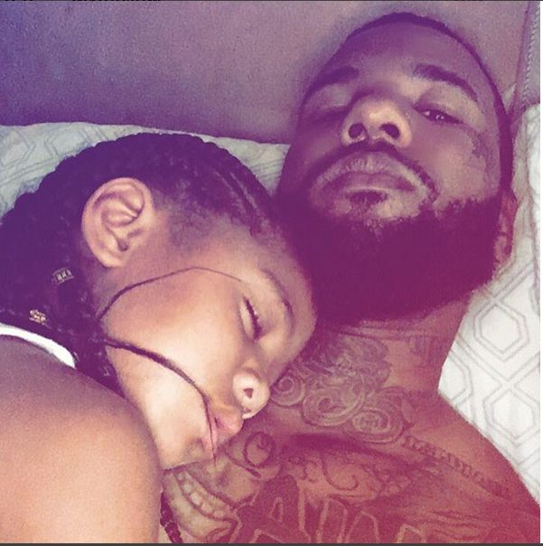 U.S Rapper The Game Shares Adorable Photo of his daughter sleeping on his Chested