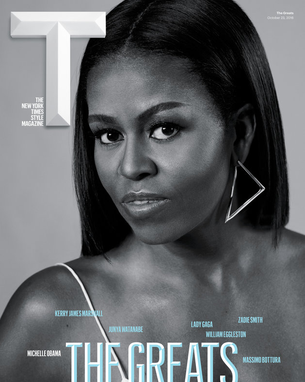 MichelleObamagracestheCoverofNewyorkTimesTMagazineE2809CGreatsE2809Dissue28229