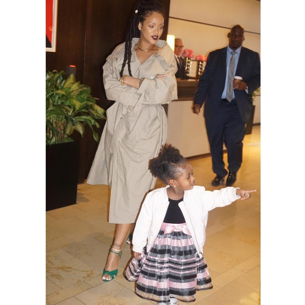 Rihanna Goes Full Nude as she Shares an Adorable with Majesty