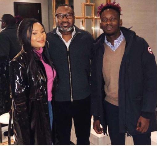 Billionaire Femi Otedola Pictured With His Daughter, Temi And Her Boyfriend, Mr Eazi
