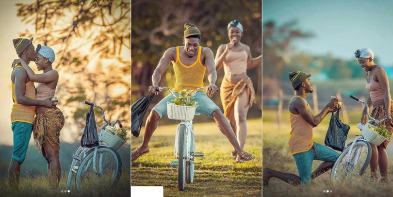 Man & His Brale$$ Fiancee Use Bicycle In Pre-Wedding Photos, See Reactions