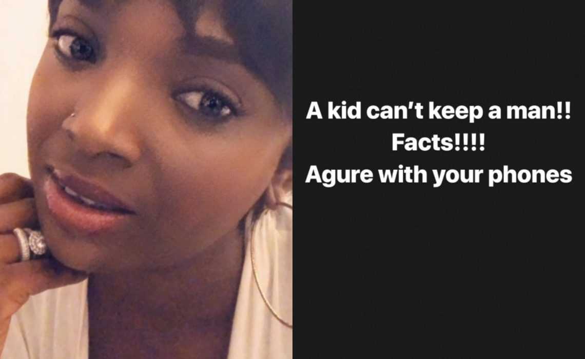 A kid can't keep a man – Annie Idibia throws shade at Sophia Momodu and other babymamas