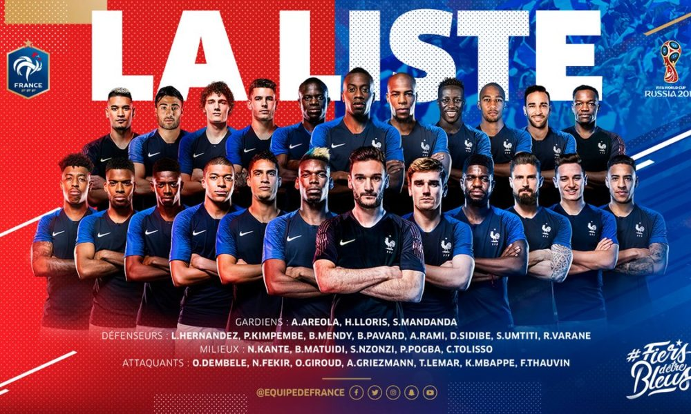 France release 23-man squad for Russia 2018 world cup