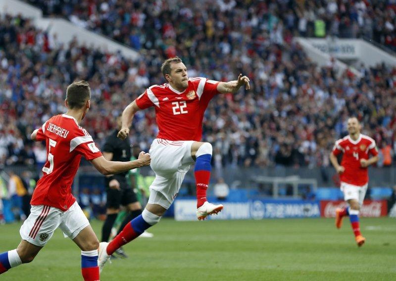Russia thrash Saudi Arabia 5-0 in World Cup opener
