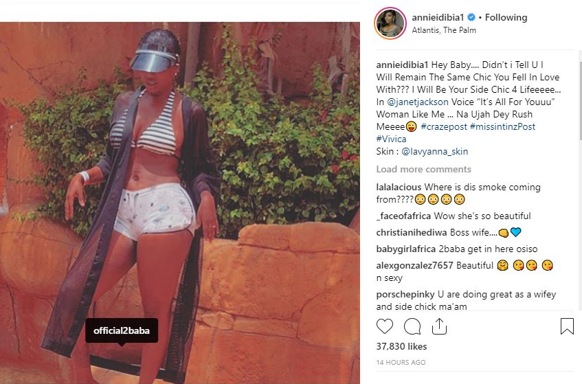 I will be your side chick for life-Annie Idibia tells 2Face Idibia