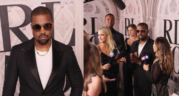 Kanye West gets reporter kicked out of fashion show (video)