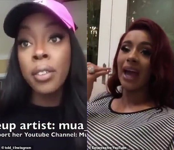 Cardi B Blast makeup artist who called her the 'worst client ever'