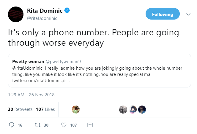 I am now on Over 1000 Whatsapp Groups - Rita Dominic Cries Out after her No was leaked by Nina's Instagram Hacker