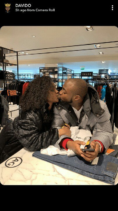 Davido Reunites With Chioma In London, ahead of his 02 Arena Concert (photos)