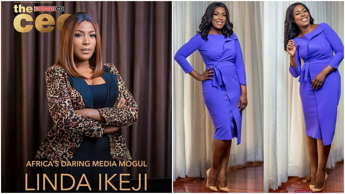 Billionaire Blogger , Linda Ikeji covers Business Day Magazine