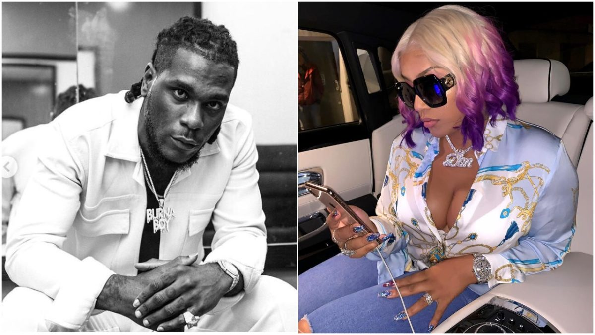 "Burna Boy's girlfriend Stefflon don Gets A Diamond ""Burna Boy"" In"