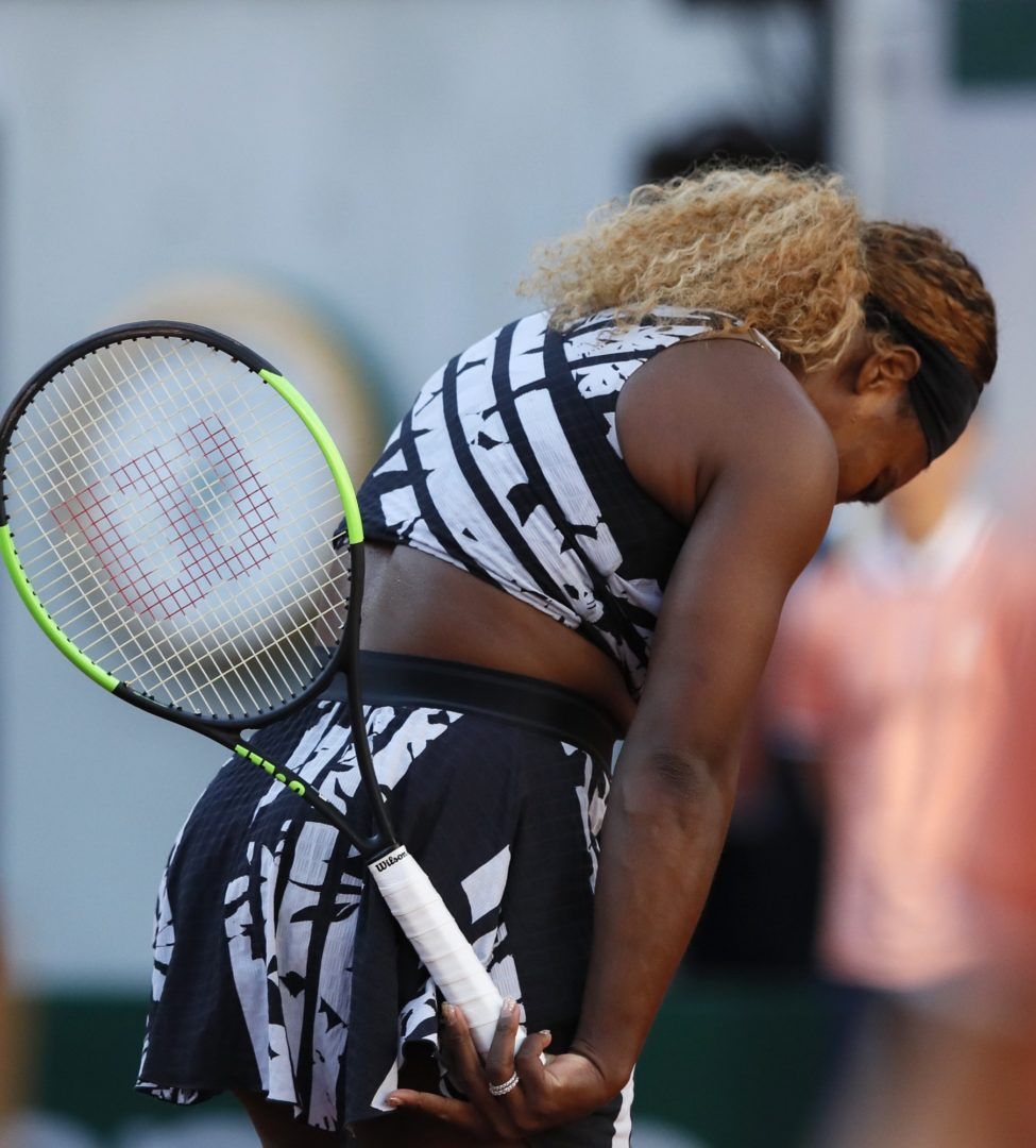 23 times Grand Slam Winner, Serena Williams Crashes out of Roland Garros