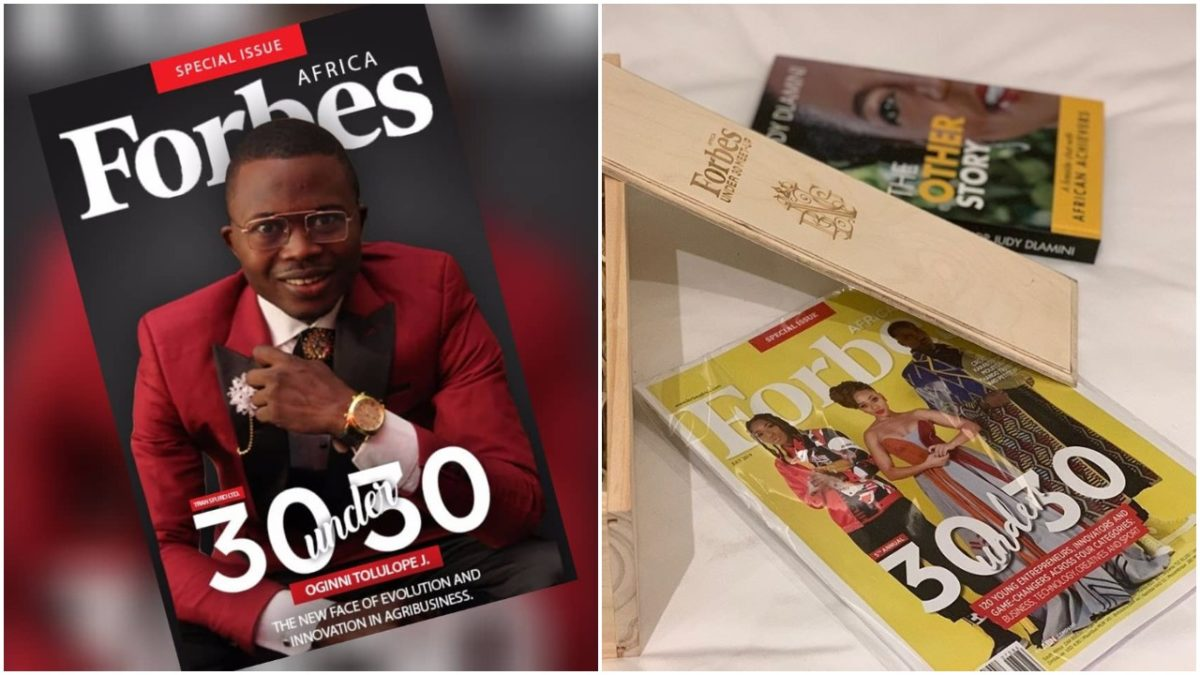 How Oginni Tolulope Joshua Became CEO Before 30 And Made FORBES List Of 30 Under 30 CEO's