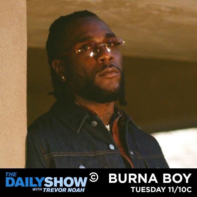 Burna Boy to appear on Trevor Noah's 'The Daily Show'