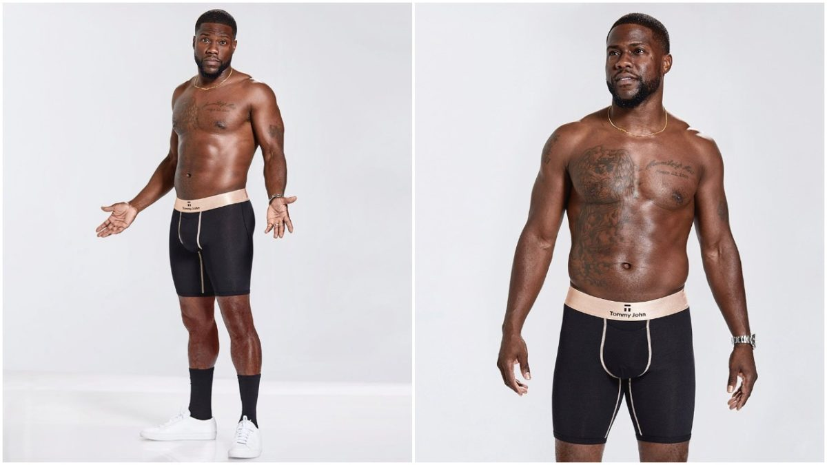 Kevin Hart shows off his body as he sets to drop new clothing line