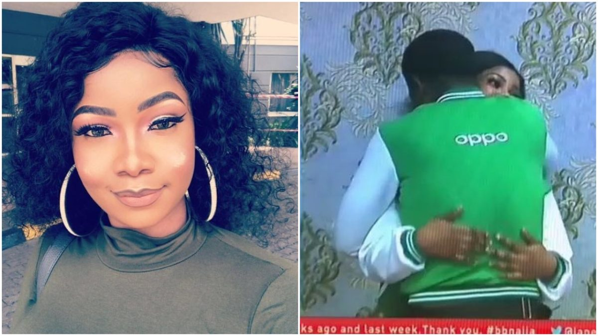 Moments Tacha and Seyi where caught hugging passionately (video)