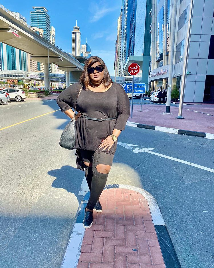 Actress Eniola Badmus excited as she visit Dubai for the first time