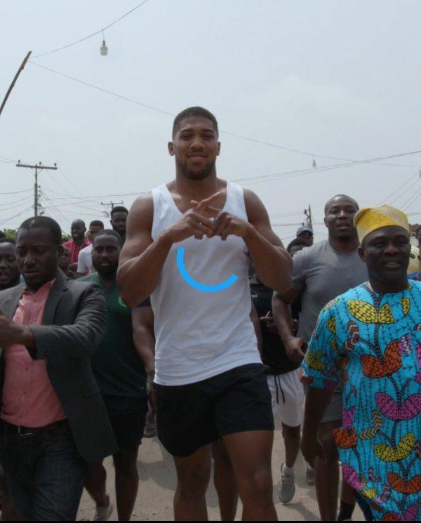 Anthony Joshua giving back to Nigerians during Coronavirus lockdown