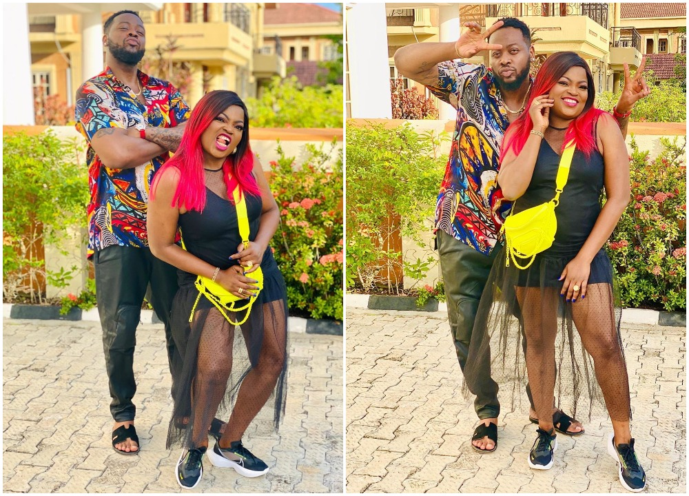 Actress Funke Akindele shares fun times with Teddy A