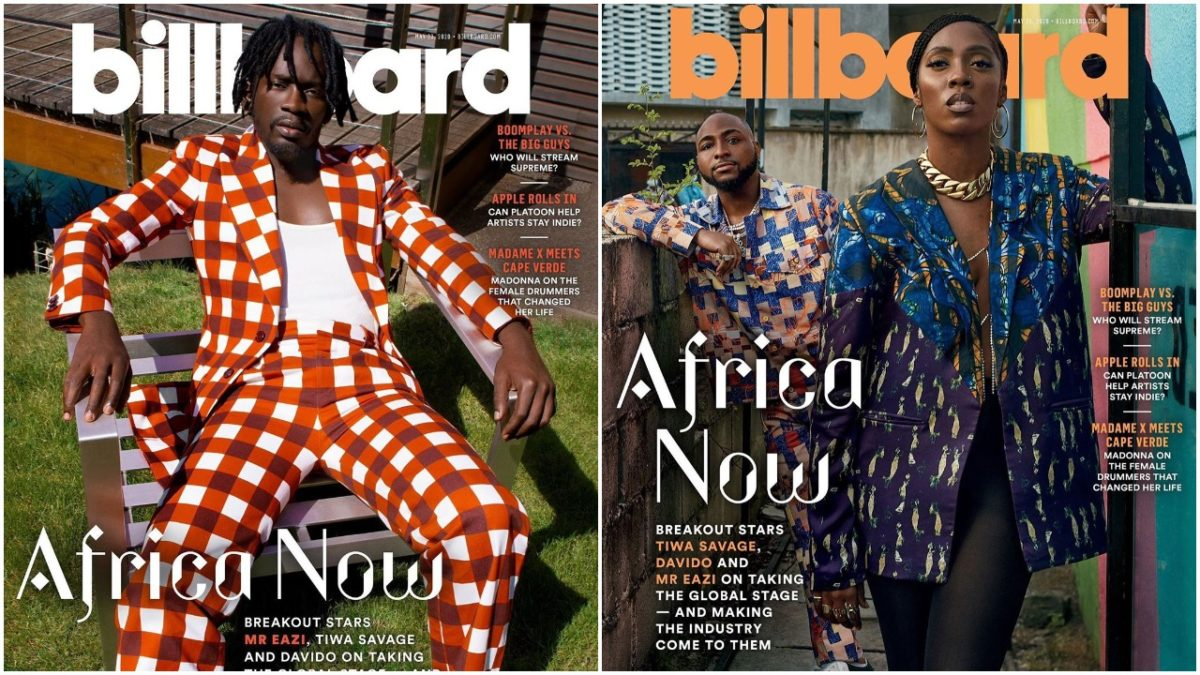Eazi, Davido and Tiwa Savage cover for Africa Now magazine (photos)