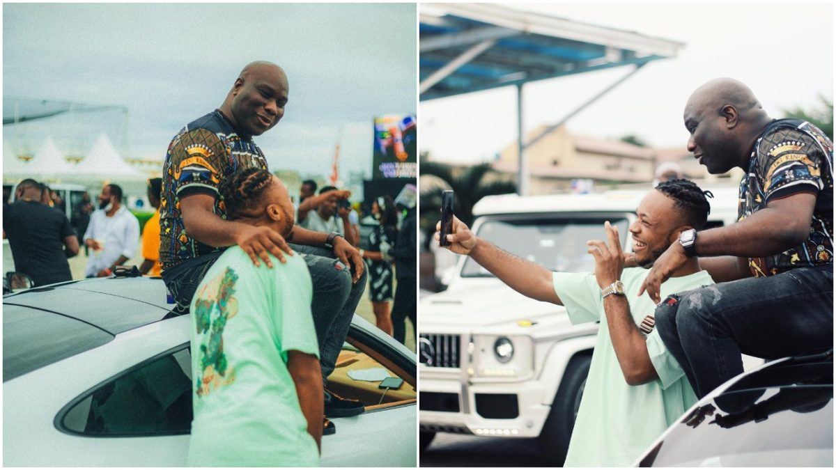 Nigerian celebrity dancer spotted with Mompha (photos)