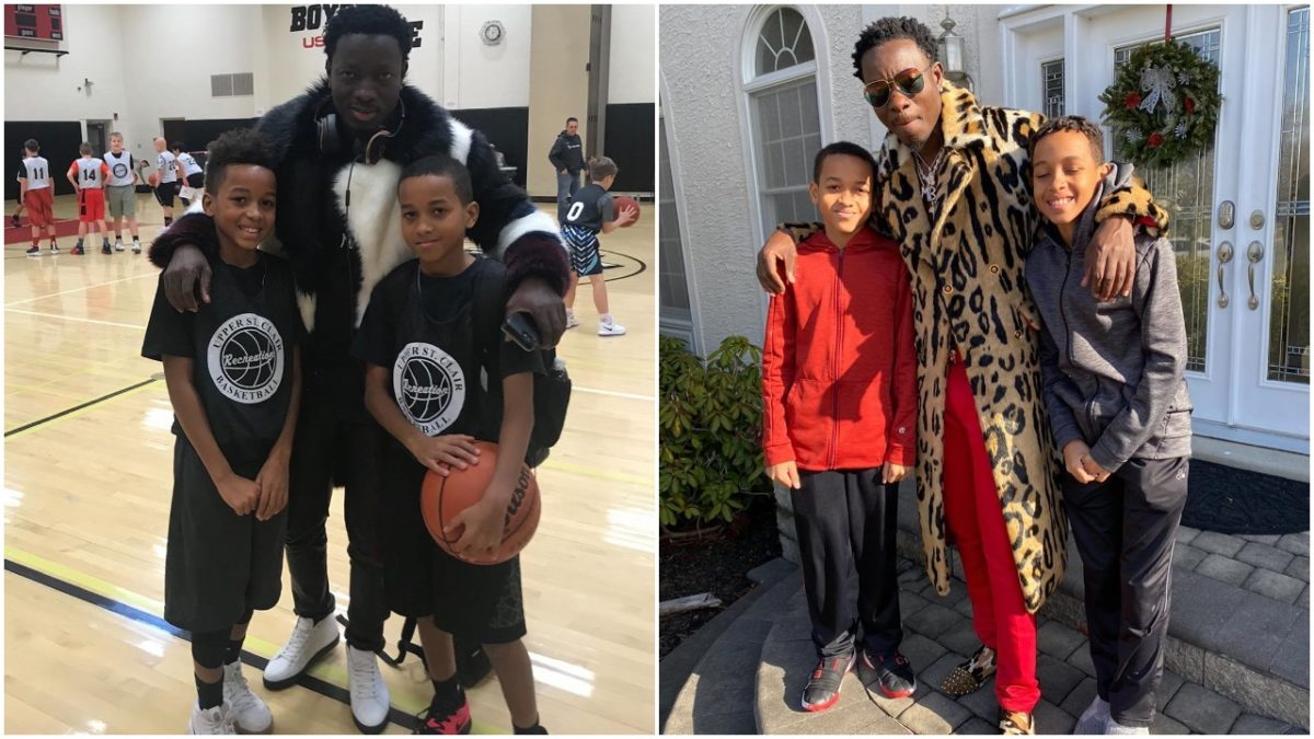 American-Ghanaian Comedian Micheal Blackson shows of his two sons