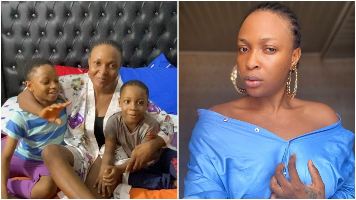 Controversial Sex Therapist Blessing Okoro shows off her two sons