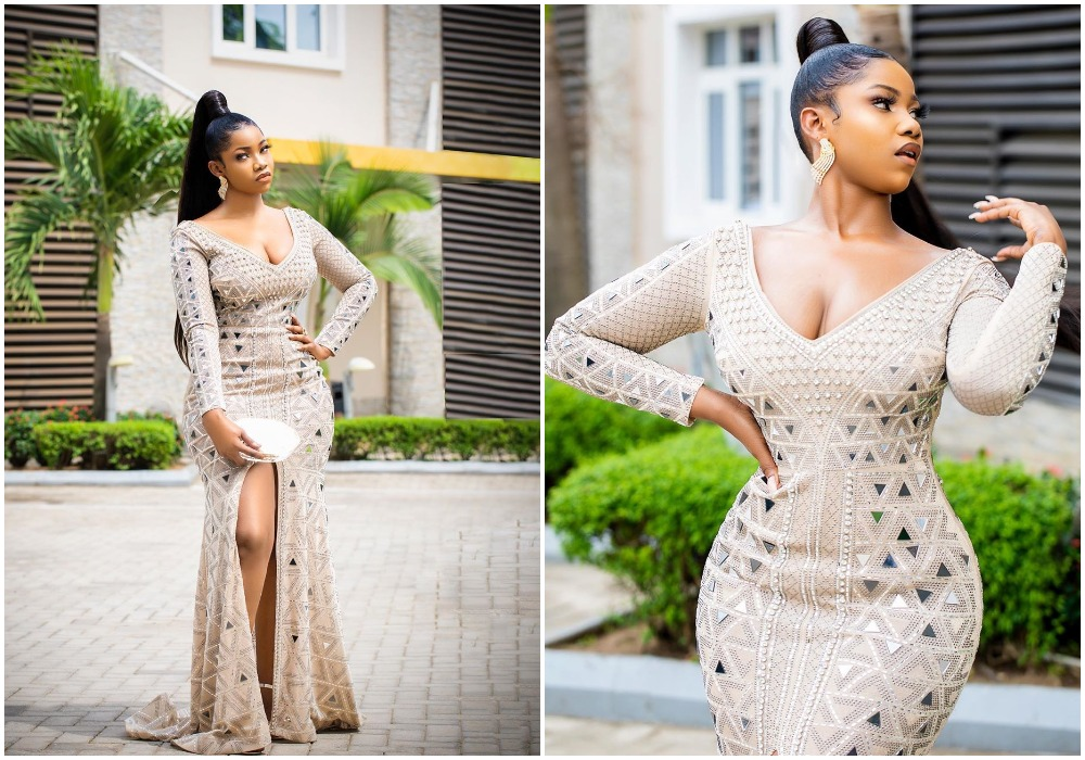 Tacha rocks Cleavage baring new dress saying she brags different (photos)
