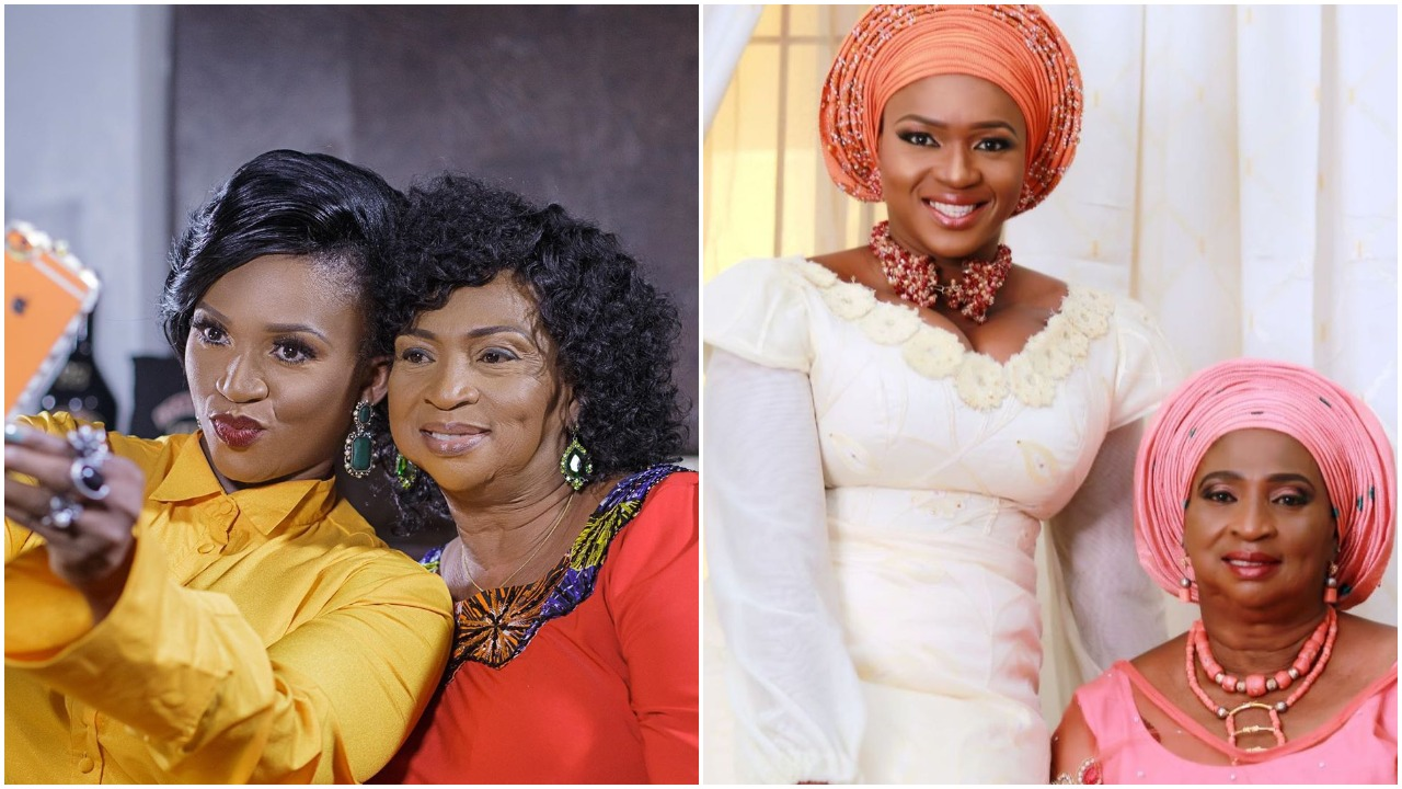 Pop Singer Waje post lovely message as her mother turns new age today (photos)
