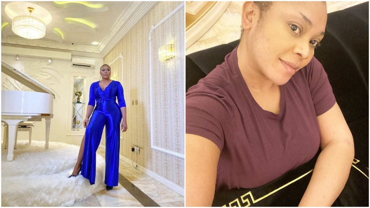 Ehizogie shows off her newly completed Lekki mansion as she turns 35 (videos)