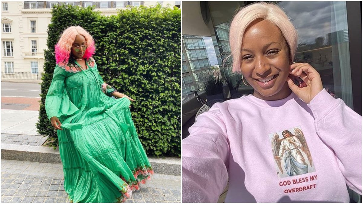 """""""Arsenal scum"""" as DJ Cuppy feels good missing Arsenal match since she dumped the Club (photo)"""