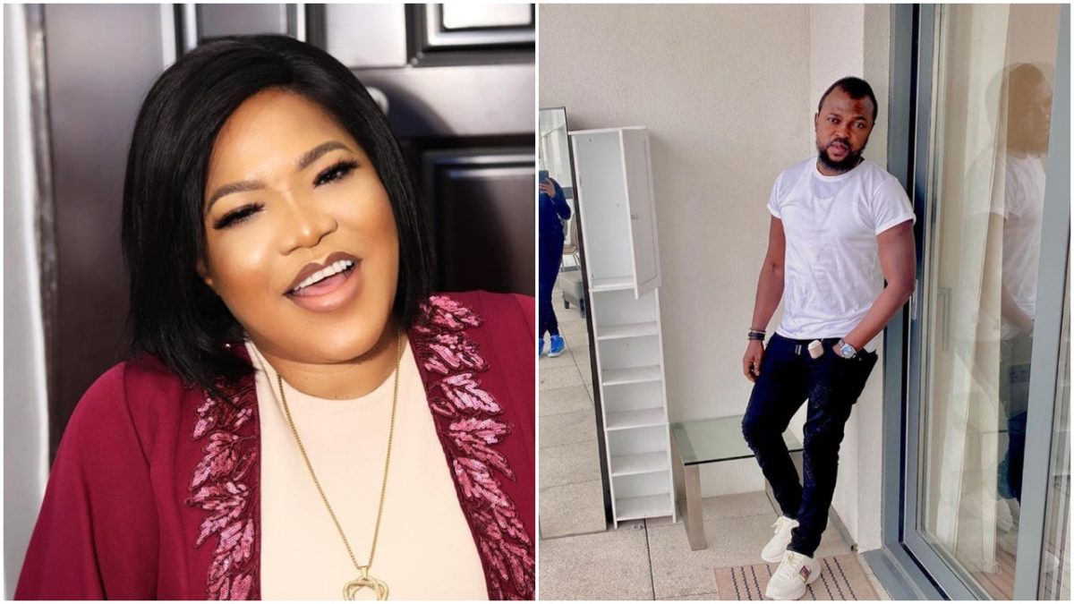 Man cries out as Toyin Abraham and her husband licks lips in his presence (video)