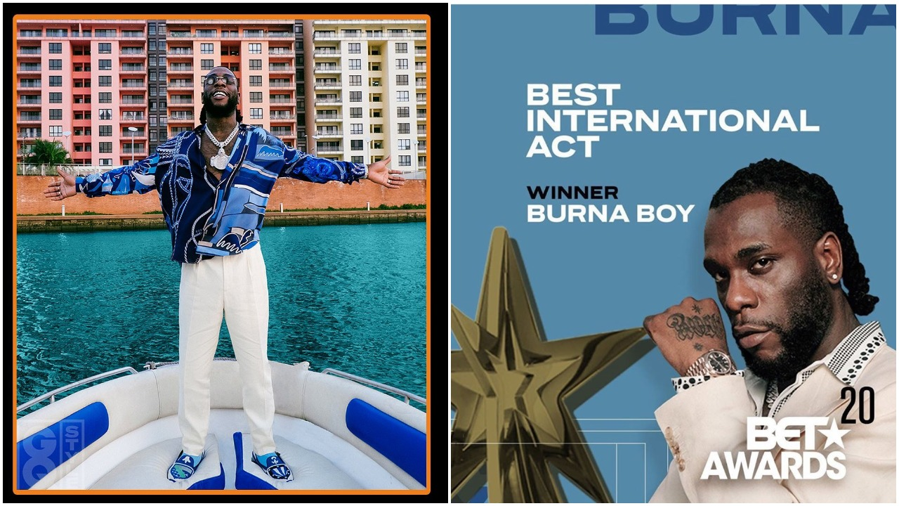 #BETAwards: Nigerian singer Burna Boy wins Best International Act award (video)