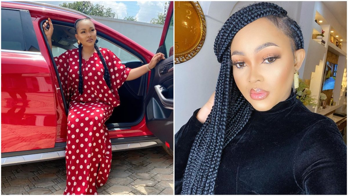 Popular Nollywood actress flaunts her flawless skin in her new Mercedes Benz (photo)