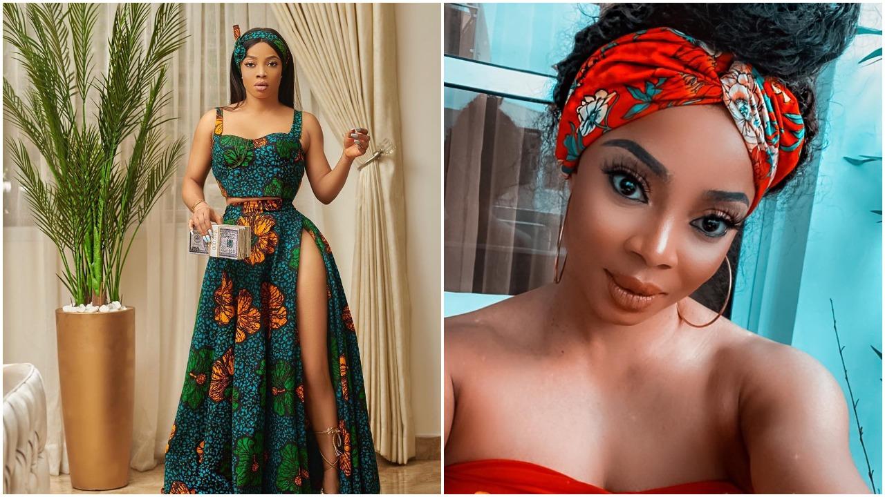 Nigeria media personality, Toke Makinwa shows off her beauty in new Ankara dress (photo)
