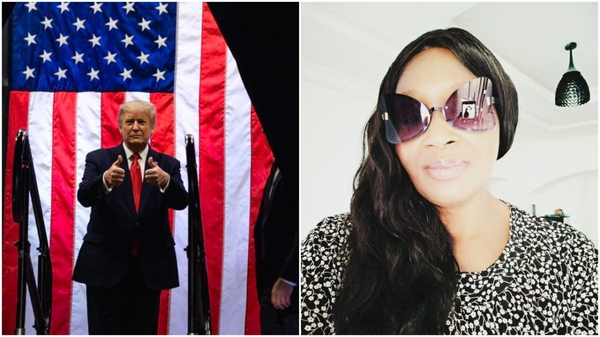 President Donald Trump is the greatest man alive - Kemi Olunloyo (photo)