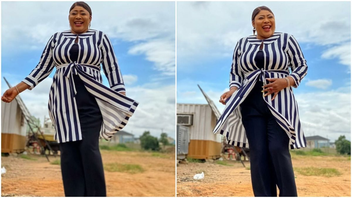 Busty Nigerian actress, Ayo Adesanya remembers her dad on Father's Day celebration (photo)
