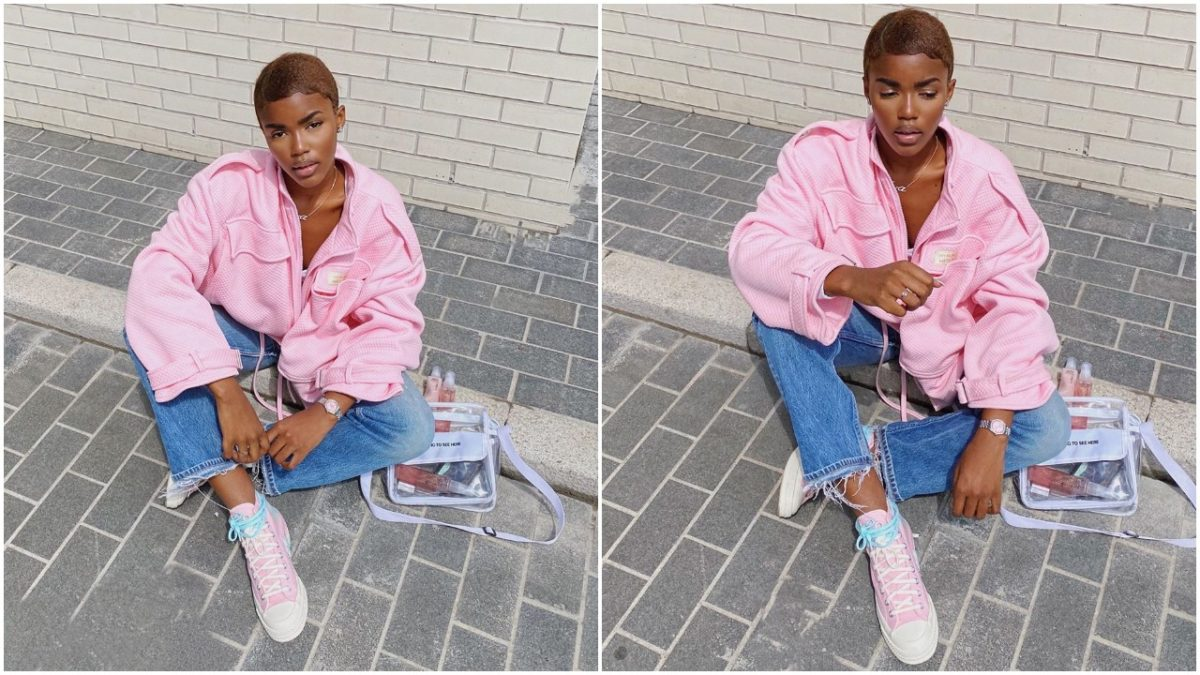 UK based model, Eva makes her hair a few weeks after she said her aunt died of cancer (photo)