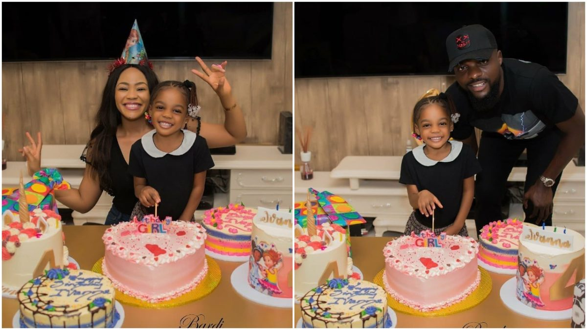 Super Eagles player, John Ogu and his former wife, Vera shows up for their daughter's birthday (video)