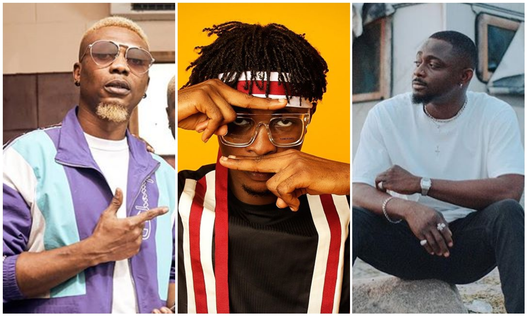 #BBNaija: Reminisce, Oxlade and Sean Tizzle shows support for Laycon (Photos)