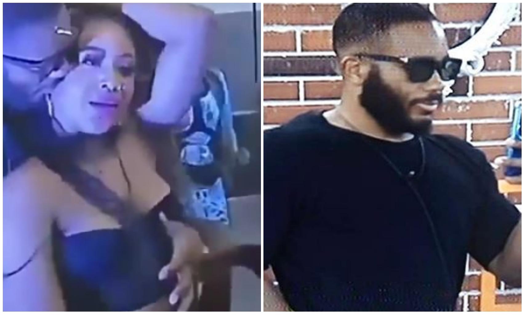#BBNaija: Moment Kiddwaya fondled Erica's b*obs as she refrain (Video)