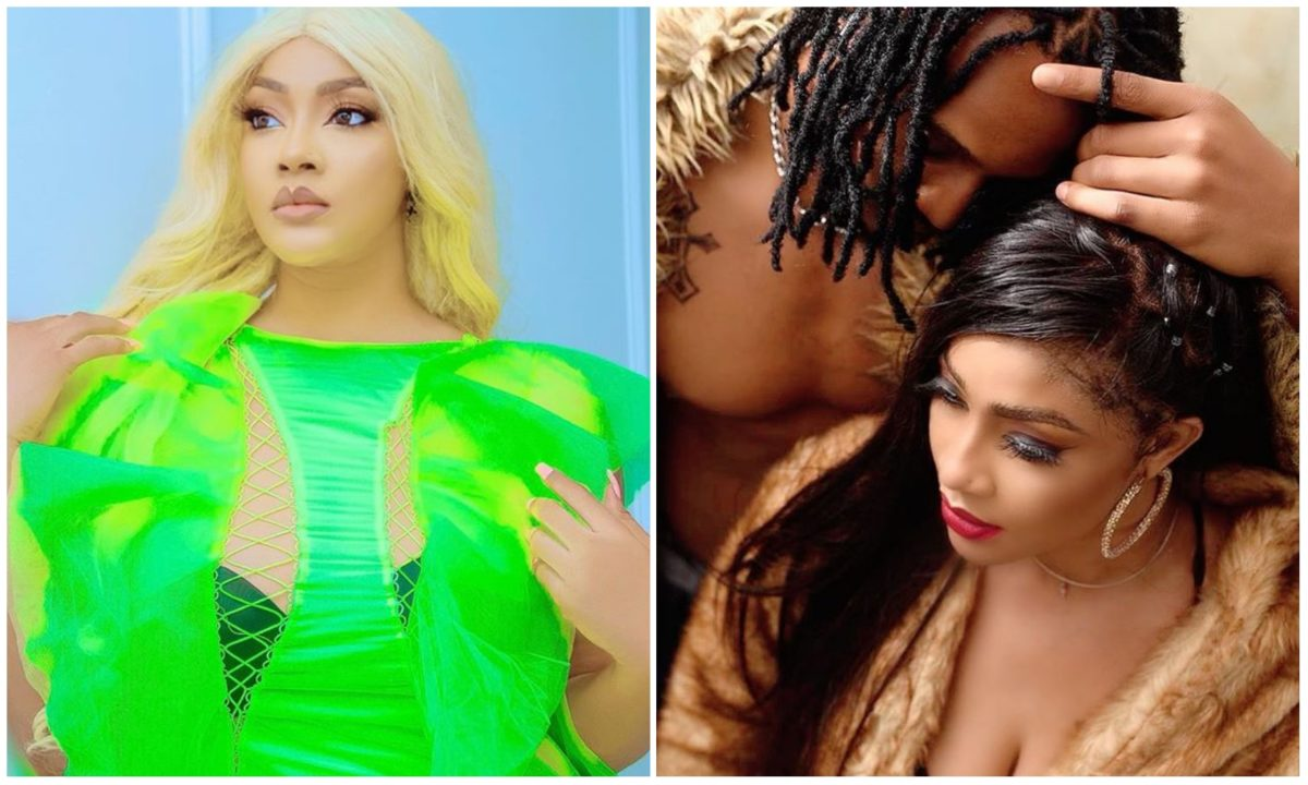 Angela Okorie's fiancee tattoos her face on his back to profess his true love (Video)