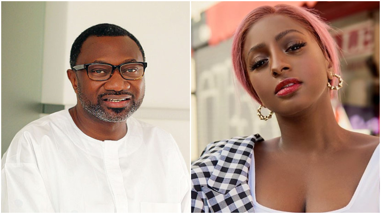 """Femi Otedola Celebrates His Daughter DJ Cuppy On Her New Hit Song """"Jollof On The Jet"""" (Video)"""