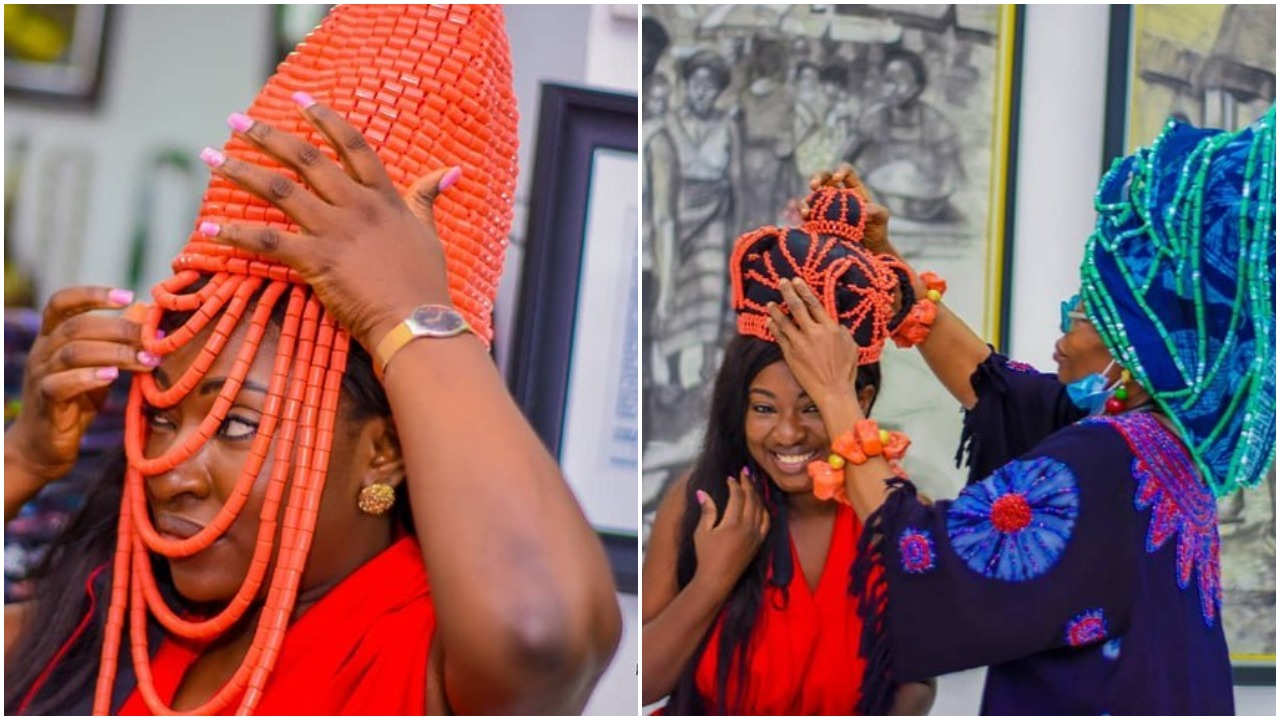 "Actress Yvonne Jegede bags a new title, ""Erelu of Nollywood"" (photos)"